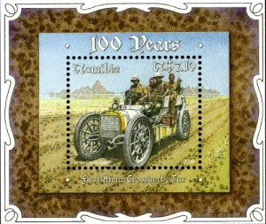 [The 100th Anniversary of the First Africa Crossing by Car, type ]
