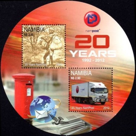 [The 20th Anniversary of NamPost - Blue Logo, Typ ]