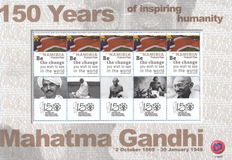 [The 150th Anniversary of the Birth of Mahatma Gandhi, 1869-1948 - Personalized Vignette, type ]