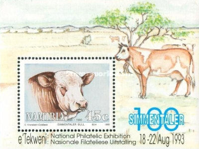 [The 100th Anniversary of Simmentalar Cattle in Namibia, type BW1]