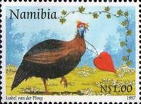 [Greeting Stamps - Guineafowl, type GJ]