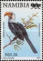 [Flora and Fauna Stamps of 1997 Surcharged, Typ HJ2]