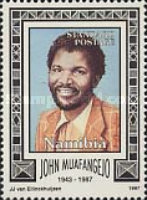 [The 10th Anniversary of the Death of John Muafangejo, 1943-1987, Typ IY]