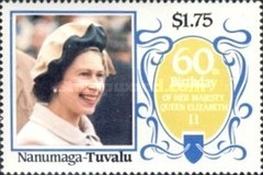 [The 60th Anniversary of the Birth of Queen Elizabeth II, Typ BU]
