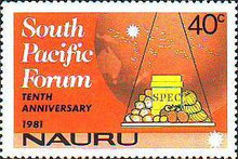 [The 10th Anniversary of South Pacific Forum, type GA]