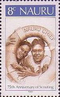 [The 75th Anniversary of Boy Scout Movement, type GC]