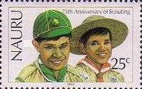 [The 75th Anniversary of Boy Scout Movement, type GF]