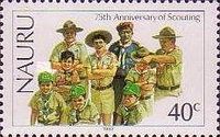 [The 75th Anniversary of Boy Scout Movement, type GG]