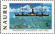 [The 75th Anniversary of Phosphate Shipments, type GO]