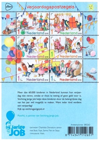 [Greetings Stamps - Happy Birthday, Typ ]