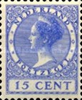 [Queen Wilhelmina - New Values and Colors - Watermarked, Typ AL20]