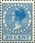 [Queen Wilhelmina - New Values and Colors - Watermarked, Typ AL21]