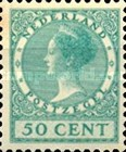 [Queen Wilhelmina - New Values and Colors - Watermarked, type AL27]
