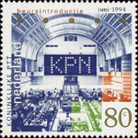 [Stock Exchange Quotation of the Dutch Postal Service, Typ AOB]