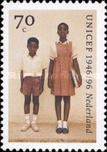 [The 50th Anniversary of UNICEF, type AQV]