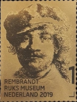 [The 350th Anniversary of the Death of Rembrandt van Rijn, 1606–1669 - 24 Karat Self Adhesive Gold Stamp, type HXO]