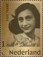 [End of World War II - Anne Frank, 1929-1945 - 24 Karat Gold Stamp, type HXW]
