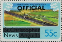 [Nevis Postage Stamps of 1980 Overprinted