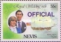 [Royal Wedding, Prince Charles and Lady Diana  - Nevis Postage Stamps of 1981 Surcharged, Typ C2]