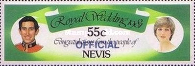 [Royal Wedding, Prince Charles and Lady Diana  - Nevis Postage Stamps of 1981 Surcharged, Typ C3]