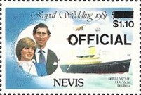 [Royal Wedding, Prince Charles and Lady Diana  - Nevis Postage Stamps of 1981 Surcharged, Typ C4]