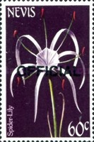 [Flowers - Nevis Postage Stamps of 1984 Overprinted