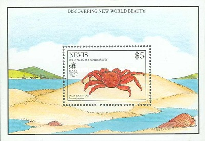 [The 500th Anniversary of Discovery of America by Columbus - New World Natural History-Crabs, Typ ]