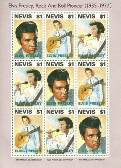 [The 15th Anniversary of the Death of Elvis Presley, Singer, 1935-1977, Typ ]