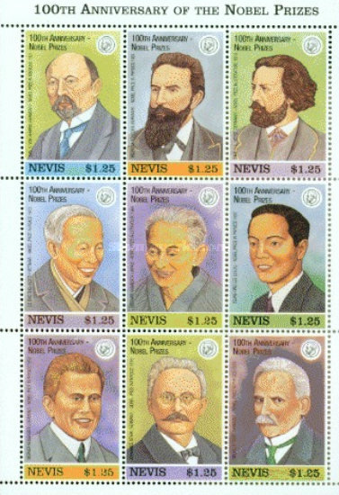 [The 100th Anniversary of Nobel Trust Fund - Past Prize Winners, Typ ]