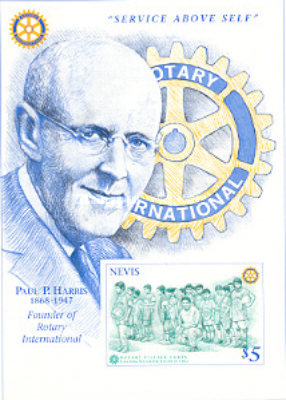 [The 50th Death Anniversary of Paul Harris, founder of Rotary International, type ]