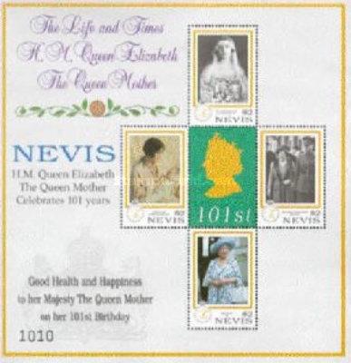 [The 101th Anniversary of the Birth of Queen Elizabeth, 1900-2002, Typ ]