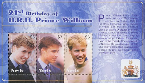 [The 21st Anniversary of the Birth of Prince William of Wales, Typ ]