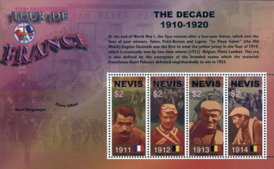 [The 100th Anniversary of Tour de France Cycle Race - Showing Past Winners, Typ ]