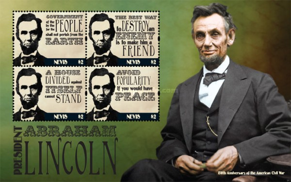 [Abraham Lincoln, 1809-1865 - The 150th Anniversary of the American Civil War, Typ ]