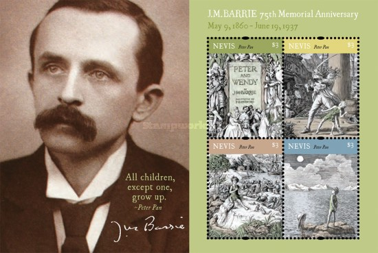 [The 75th Anniversary of the Death of J. M. Barrie, 1860-1937, Typ ]