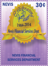 [The 30th Anniversary of Nevis Financial Services Department, Typ DCZ]
