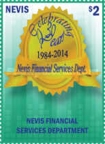 [The 30th Anniversary of Nevis Financial Services Department, Typ DCZ1]