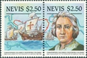 [The 500th Anniversary of Discovery of America by Columbus, Typ LA]