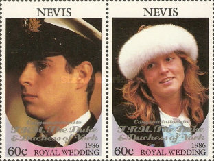 [Royal Wedding - Issues of 1986 Overprinted