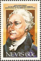 [The 200th Anniversary of U.S. Constitution and the 230th Anniversary of the Birth of Alexander Hamilton, 1757-1804, Typ OG]