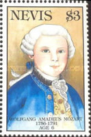 [The 200th Anniversary of the Death of Wolfgang Amadeus Mozart, 1756-1791, Typ XV]