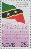 [The 10th Anniversary of Independence of St. Kitts-Nevis, Typ ZW]