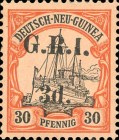 [German New Guinea Stamps of 1901 Surcharged and Overprinted
