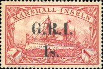 [German Marshall Islands Stamps of 1901 Surcharged and Overprinted
