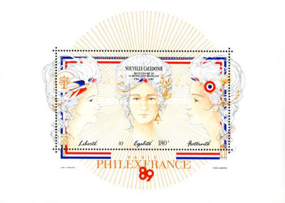 [Airmail - The 200th Anniversary of French Revolution, Typ ]