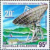 [Airmail - The 20th Anniversary of New Caledonia's First Earth Station - The 100th Anniversary of the Invention of the Telegraph by Gugliegmo Marconi, Typ ACB]