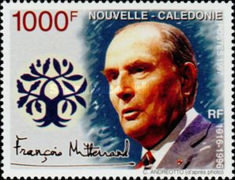 [The First Anniversary of the Death of Francois Mitterrand, 1916-1998, Typ ACQ]