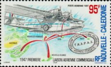 [aAirmail - The 50th Anniversary of Establishment by TRAPAS of First Commercial Air Routes in South Pacific, Typ ADC]