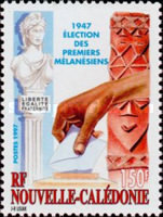 [The 50th Anniversary of First Elections of Melanesian Representatives to French Parliament, Typ ADH]