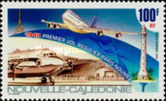 [Airmail - The 50th Anniversary of First Paris-Noumea Scheduled Flight, Typ AGD]